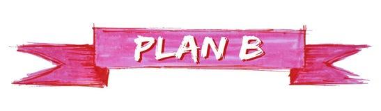 ruban du plan b illustration stock