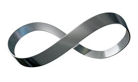 Ruban en métal de symbole d'infini Photo stock