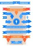Ruban gentil réglé pour le titre infographic Photo libre de droits