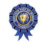 Ruban imprimable français de récompense de papa du ` s du monde le meilleur jamais - Image stock