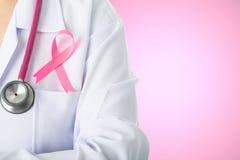 Ruban médical de bâton de conscience de Cancer pour des soins de santé Images libres de droits
