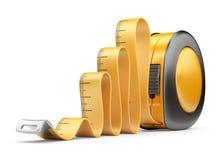 Ruban métrique de règle. icône 3D  Image libre de droits