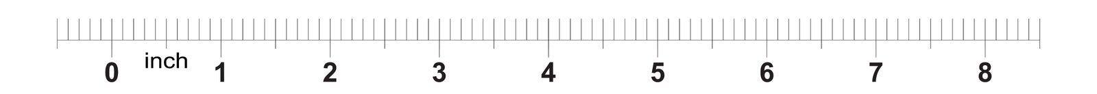 ruban m?trique de r?gle de 8 pouces avec 0 inscriptions de 1 pouce Grille m?trique