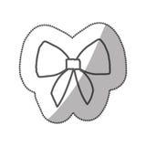 ruban mignon réaliste de silhouette d'autocollant avec l'arc illustration de vecteur