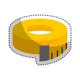 Ruban métrique d'icône d'isolement Images stock