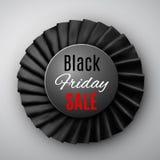 Ruban noir de vendredi illustration de vecteur
