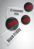 Ruban noir en verre de vendredi illustration de vecteur
