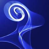 Ruban onduleux bleu sur un fond bleu Images libres de droits