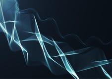 Ruban onduleux bleu sur un fond bleu-foncé Image libre de droits