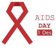 Ruban rouge 2 d'illustration de Journée mondiale contre le SIDA Image stock