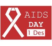 Ruban rouge 4 d'illustration de Journée mondiale contre le SIDA Images libres de droits