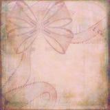Ruban sur le papier texturisé rose Image libre de droits