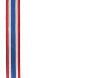 Ruban thaïlandais de drapeau avec le fond blanc Photo stock