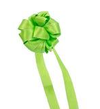 Ruban vert pour le cadeau de décoration Photographie stock libre de droits