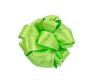 Ruban vert pour le cadeau de décoration Photos libres de droits