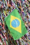 Rubans brésiliens Bonfim Salvador Bahia de souhait de drapeau images libres de droits
