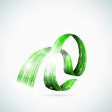 Rubans brillants verts abstraits Photos stock