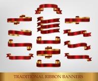 Rubans d'imprimante par ligne de drapeaux Images stock