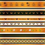 Rubans de Halloween réglés Images stock