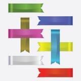 Rubans en soie de Web réglés, illustration de vecteur, produits promotionnels Photographie stock libre de droits