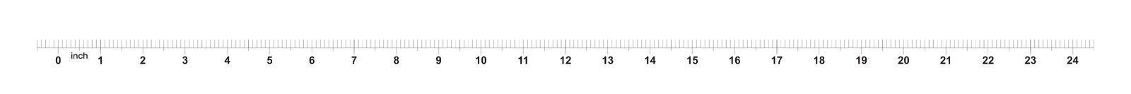 24 rubans m?triques de r?gle de pouce avec 0 inscriptions de 1 pouce Grille m?trique