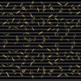 Rubans serpentins, sur le fond Confettis de flammes Illustration de vecteur de décoration d'or Decorati d'or en baisse Photo stock