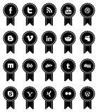Rubans sociaux de media de vintage Image stock