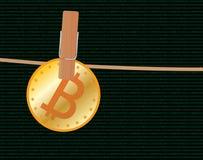 Rubare di Bitcoin Fotografie Stock Libere da Diritti