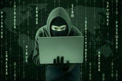 Rubare informazioni online 1 Fotografia Stock Libera da Diritti