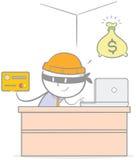 Rubare la carta di credito Immagine Stock Libera da Diritti