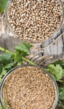 Rubbed Coriander Stock Photography