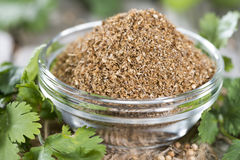 Rubbed Coriander Stock Images
