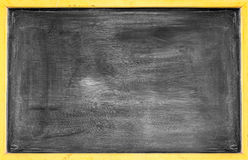 Rubbed out on blackboard for background Stock Photography