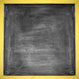 Rubbed out on blackboard for background Stock Photos