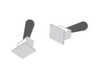 Rubbeerstämplar för vektor 3d Stock Illustrationer