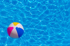 Rubber ball in the swimming pool. Rubber ball in the pool Royalty Free Stock Photography
