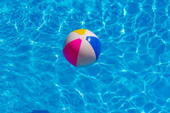 Rubber ball in the swimming pool. Rubber ball in the pool Stock Images