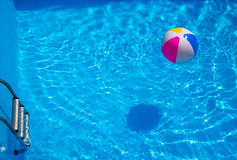 Rubber ball in the swimming pool. Rubber ball in the pool Stock Photo