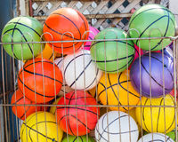 Rubber ball of various color. As a background Stock Photography