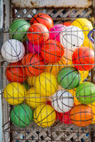 Rubber ball of various color. As a background Royalty Free Stock Images