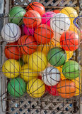 Rubber ball of various color. As a background Stock Photo