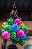Rubber ball of various color. As a background Stock Images