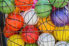 Rubber ball of various color. As a background Stock Photos