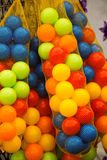 Rubber ball of various color. As a background Stock Image