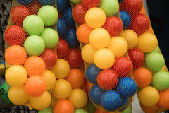 Rubber ball of various color. As a background Royalty Free Stock Photos