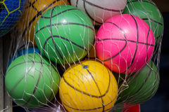 Rubber ball of various color. As a background Royalty Free Stock Image