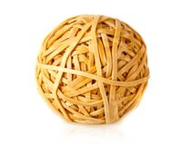 Rubber band ball Stock Image