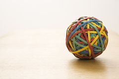 Rubber band ball. royalty free stock image