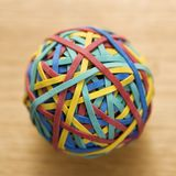 Rubber Band Ball. Royalty Free Stock Photos