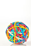Rubber Band Ball. Shoot in studio Royalty Free Stock Images